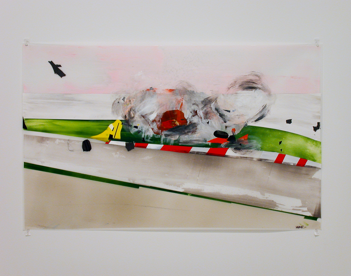 Kristin Baker, Pain in the Ass Chicane, 2002. Acrylic on mylar.