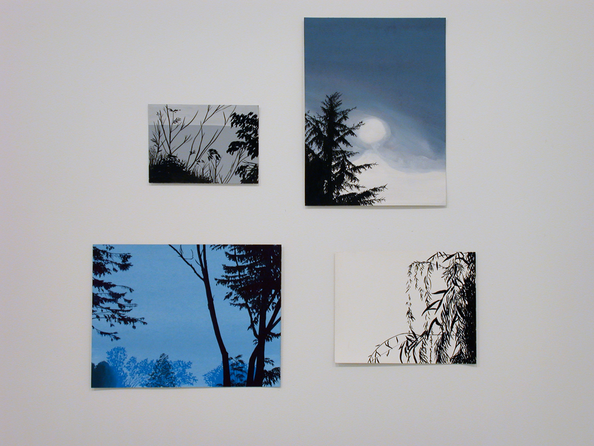 Molly Smith, 4 works, each: Untitled, 2002. Ink and gouache on paper.
