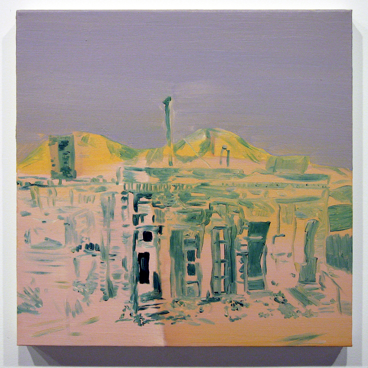 Backlot, 2006. Oil on canvas. 16 x 16 inches.