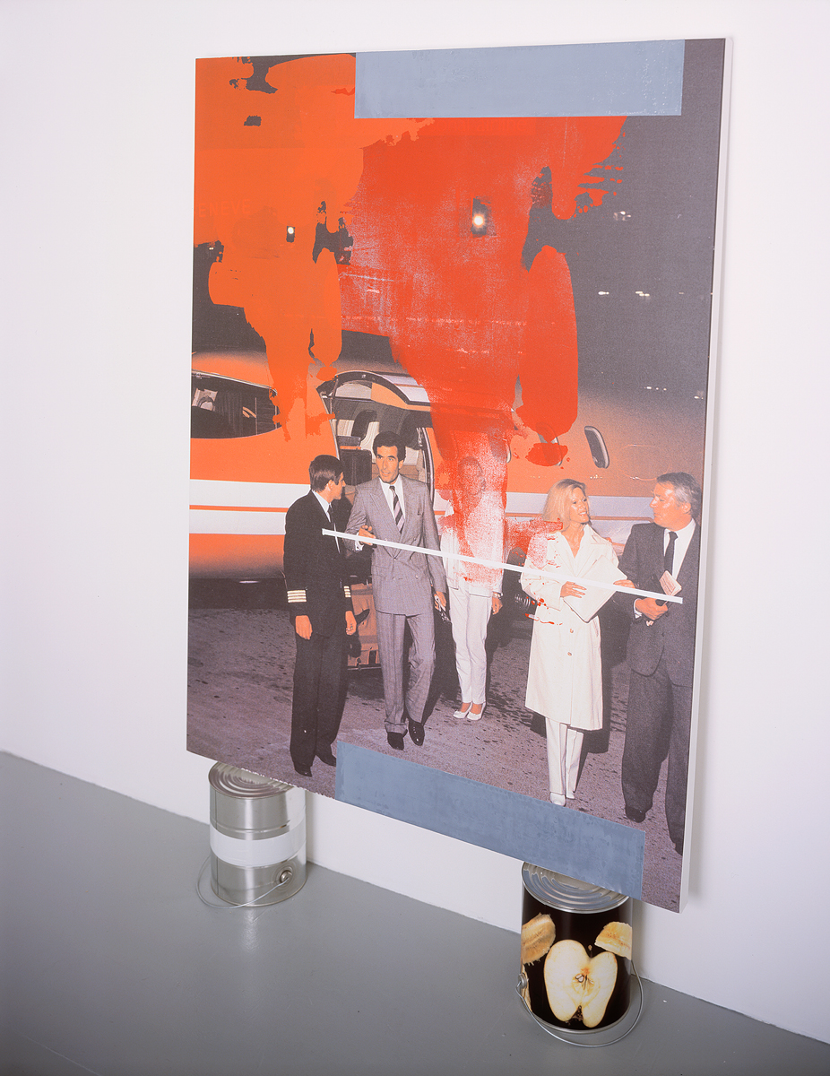 Geneve, 2004. Digital ink jet and silkscreen enamel on canvas, mixed media. 36 x 48 inches.